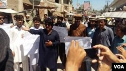 د وزیرستان خلک د متنازعه ویډیو په ضد احتجاج کوي
