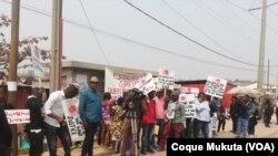 Greve dos trabalhadores da Tuboscope-Angola, em Luanda