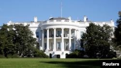 미국 워싱턴 DC의 백악관 건물.