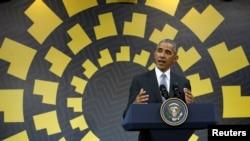 Predsednik Barak Obama na pres konferenciji na završetku samita APEK-a u Limi.