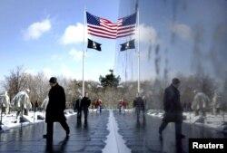 Monumento a los Héroes de la Guerra de Corea. Washington D.C.