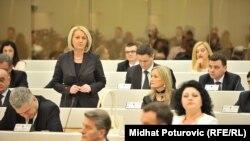Borjana Kršto, članica Kolegija Predstavničkog doma Parlamentarne skupštine BiH , decembar 2014.