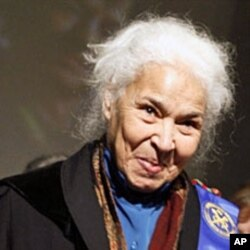 Egyptian novelist, essayist and physician Nawaal el-Saadawi. Her feminist works focus on the oppression of women and women's desire for self-expression
