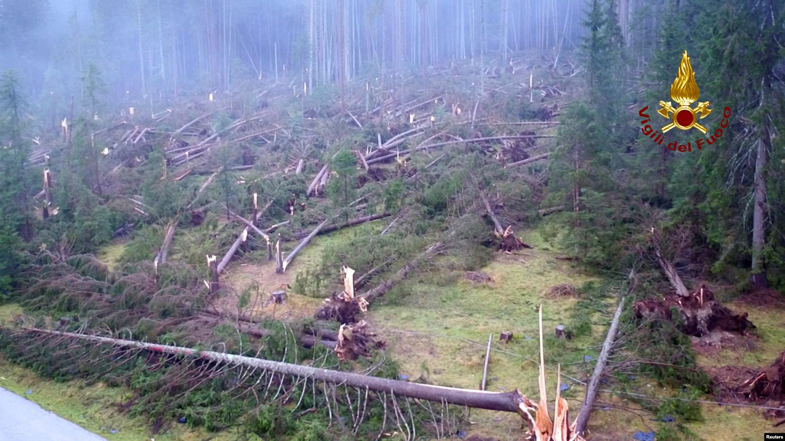 Italian Storms Claim 17th Life, 14 Million Trees