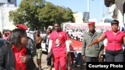 MDC-T youths staged protests in Harare on Thursday. (Photo: MDC Facebook Page)