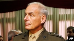 FILE - U.S. Marine Gen. John F. Kelly, commander of U.S. Southern Command, says about 100 Islamist militant recruits have left the Caribbean and South America to train and fight in Syria.