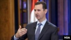 ປະທານາທິບໍດີ Bashar al-Assad ໃຫ້ການສໍາພາດແກ່ ໂທລະພາບ Fox News ທີ່ກຸງ Damascus