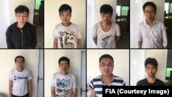 گرفتار شدہ چینی افراد