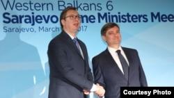 Aleksandar Vučić i Denis Zvizdić