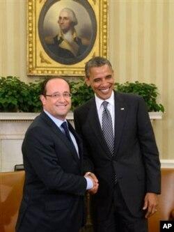 Fransiya yangi rahbari Fransua Olland va Amerika prezidenti Barak Obama yevrozonada o'sishni rag'batlantirish kerak deb hisoblaydi, lekin Afg'oniston borasida fikrlari farqli