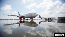 Phi cơ Airbus A330-300 của hãng hàng không Thai Airways đậu tại Sân bay Don Muang ở Bangkok.