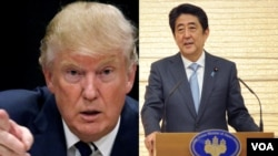 Presiden Amerika Serikat, Donald Trump (kiri) dan PM Jepang Shinzo Ane (Foto: dok).