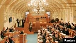 捷克参议院2009年5月6日举行院会的情景(路透社)