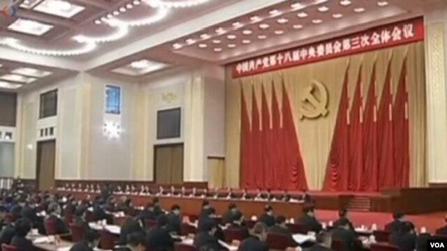 中共中央18届三中全会 美国之音视频截图