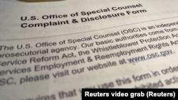 Žalba koju su Kancelariji specijalnog tužioca predali advokati Ricka Brighta (Reuters videograb)
