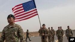 Des soldats américains lors d'un entrainement anti-terroriste à Thiès, Sénégal, le 8 février 2016.
