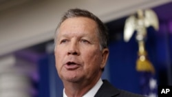 Ohio Gov. John Kasich speaks during the daily news briefing, Sept. 16, 2016, at the White House. On Dec. 13, 2016, Kasich responded to two abortion proposals from Ohio lawmakers.