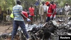Кения. Место катастрофы вертолета.