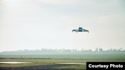 An Amazon Prime Air drone is seen in flight in this Amazon handout photo. (Amazon)