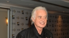 Jimmy Page arrives for the 59th Ivor Novello Awards at the Grosvenor House in London May 22, 2014. (Photo by Mark Allan /Invision/AP)