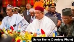 Shugaba Mahamadou Issoufou na Nijar yana jawabi
