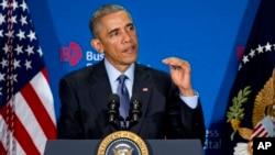 """Presiden AS Barack Obama """"kurang optimis"""" mengenai hubungan AS-Rusia khususnya dengan Presiden Vladimir Putin (3/12)."""
