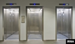 "This is a bank of elevators. (When there is more than two elevators in an area, we call it a ""bank."")"