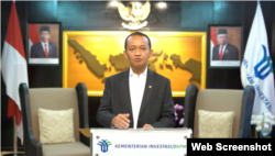 Kepala Badan Koordinasi Penanaman Modal (BKPM) Bahlil Lahadalia. (Foto:VOA)