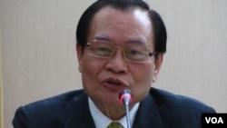 台湾法务部长曾勇夫(美国之音 张佩芝摄)