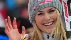 لیندزی وون آمریکایی پیشتاز جام جهانی اسکی آلپاین