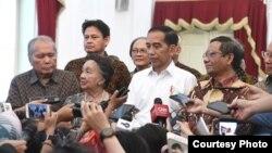 Presiden mengeluarkan wacana soal Perppu KPK usai bertemu dengan para tokoh. (Foto: presidenri.go.id)
