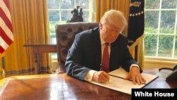 آقای ترامپ تاکنون دو فرمان اجرایی برای منع سفر موقت شهروندان دست کم شش کشور عمدتا مسلمان صادر کرد که قضات فدرال آن را رد کردند.