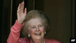 Tsohuwar firayim ministar Britaniya, Margaret Thatcher, wadda ta rasu litinin, 8 Afrilu, 2013