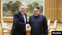 د امریکې خارجه وزیر مایک پمپیو په ورستیو کې د شمالي کوریا د مشر کېم یونگ ان سره هم لېدلې دي