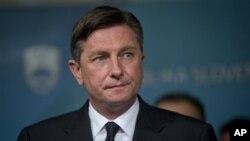 Novoizabrani predsednik Slovenije Borut Pahor