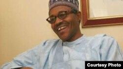 Dan takarar Shugaban Nijeriya karkashin Jam'iyyar APC Janar Muhammadu Buhari.