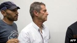 Beny Steinmetz, magnat franco-israélien du diamant, comparaît le 14 août 2017 devant le tribunal israélien Rishon Lezion près de Tel Aviv, après avoir été placé en détention dans le cadre d'une enquête internationale sur le blanchiment d'argent.