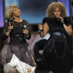 Erica Campbell and Tina Campbell of Mary Mary perform at the 42nd NAACP Image Awards last month in Los Angeles