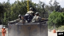 Lực lượng an ninh Libăng tuần tra 1 khu vực gần biên giới với Syria, 15/5/2011