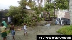 Efeito do ciclone Idai. INGC (facebook).