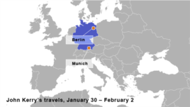 John Kerry's Travels, January 30 – February 2