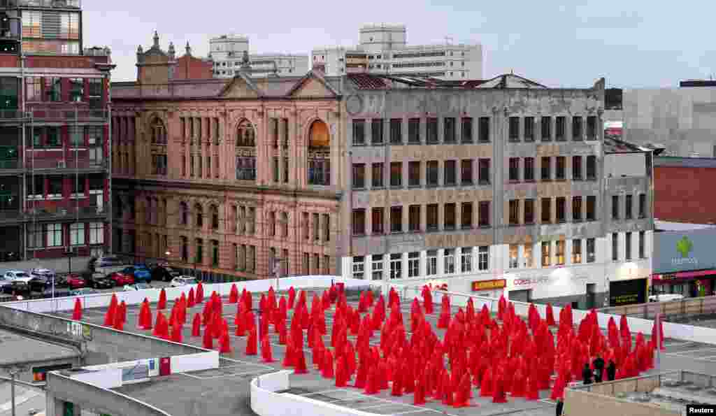 "Contemporary New York artist Spencer Tunick is seen photographing nude Melburnians for his latest piece, ""Return of the Nude"", as part of Chapel St, Prahran's Provocare festival, in Melbourne, Australia."