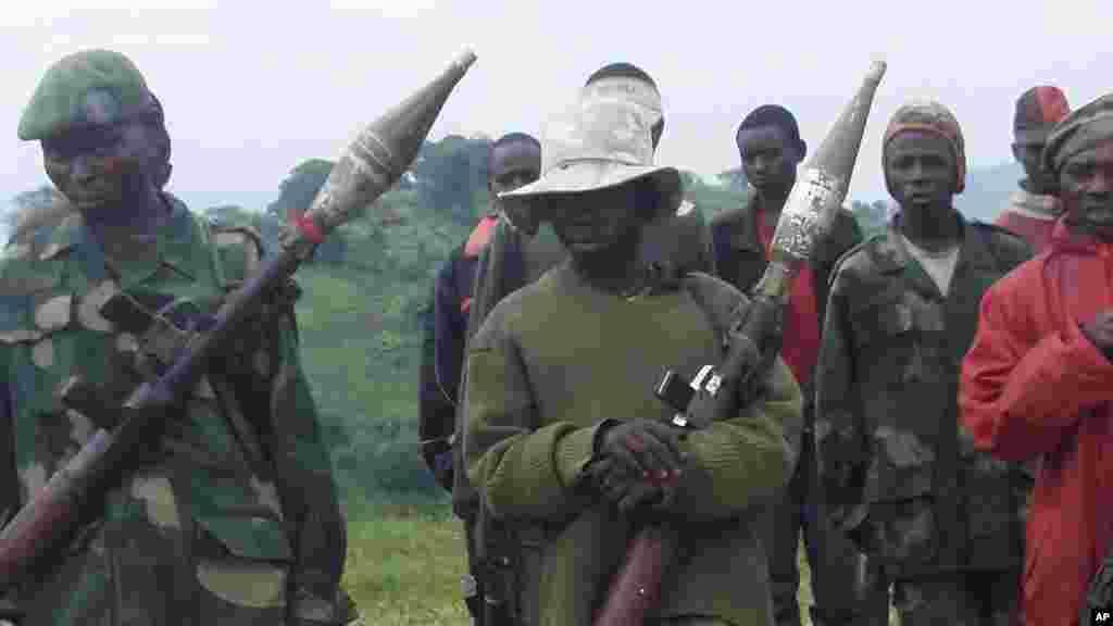 Wapiganaji wa kundi la UPCP katika kambi ya Lubero
