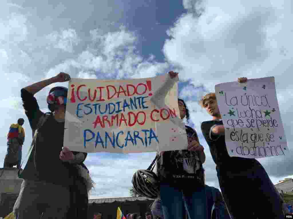 Muchos sectores incluyendo el estudiantil se encuentran en pie de lucha.