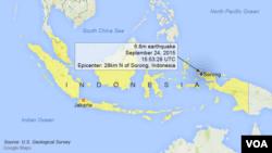 Gempa bumi berkekuatan 6,6 dekat Sorong, Indonesia