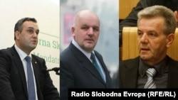 Asim Sarajlić, Amir Zukić i Mirsad Kukić, funkcioneri SDA koji su optuženi za nezakonita zapošljavanja