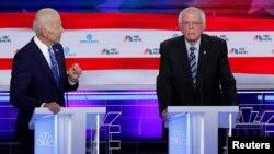 Джо Байден и Берни Сандерс встретились на дебатах в Майами 27 июня