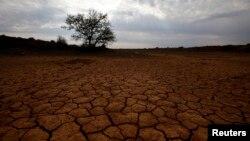 Tanah yang pecah-pecah karena kekeringan di Karoo Afrika Selatan (Foto: dok). Namun penemuan atas kristal kecil yang terperangkap dalam sebuah berlian kasar, yang terlempar dari 400 kilometer di bawah permukaan bumi, mengisyaratkan kemungkinan ada banyak air jauh di dalam bumi.