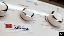 امریکہ کی ایک الیکٹرانک کمپنی کی تیار کردہ واشنگ مشین پر میڈان امریکہ کا لیبل نمایاں انداز میں لگایا گیا ہے۔ 9 مئی 2019