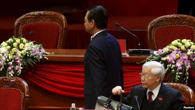 Ông Nguyễn Tấn Dũng khi còn làm thủ tướng Việt Nam tại Đại hội Đảng đầu năm ngoái.